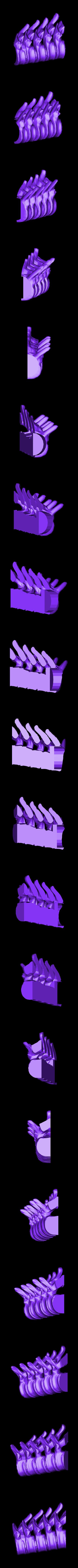 spine_top_left.stl Télécharger fichier STL gratuit Bougeoir pour la colonne vertébrale • Modèle pour impression 3D, billythemighty3Dprinter