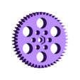 xtrhdr_large_gear_50th_M6.stl Download free STL file xtrhdr a geared nema23 extruder for a cupcake • 3D printing model, billythemighty3Dprinter
