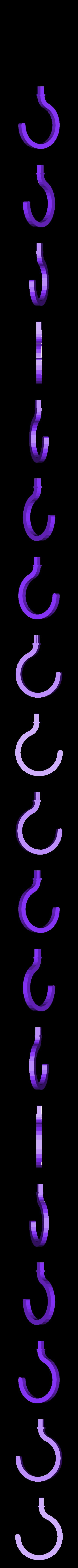 pirate_hand_hook.stl Download free STL file Parametric Pirate Hook • 3D print template, billythemighty3Dprinter