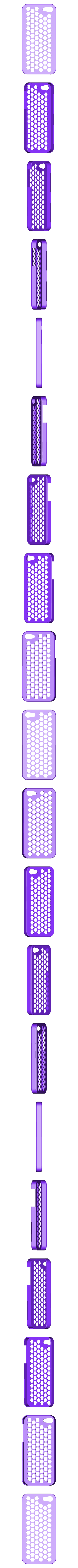 iPhone_5_Honey_Comb_plug_case_repaired.stl Télécharger fichier STL gratuit Honey Comb Étui pour iPhone 5 Plug Case • Design pour impression 3D, AliSouskian