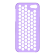 iPhone_5_Honey_Comb_plug_case_repaired.stl Download free STL file Honey Comb iPhone 5 Plug Case • 3D printing template, AliSouskian
