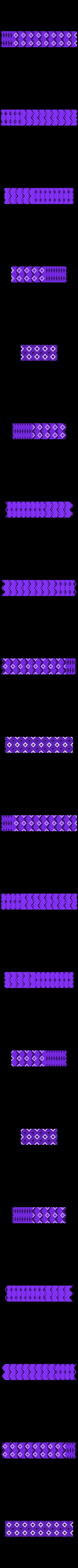 antiwarp_doublewall_8x4.stl Download free STL file Anti-Warping Block, Truncated Octahedrons • Model to 3D print, zootopia3Dprints
