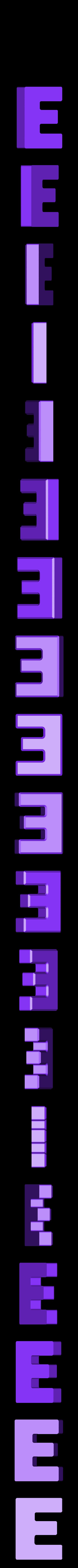 E.stl Download free STL file Letter Bowls • 3D print object, PrintedSolid