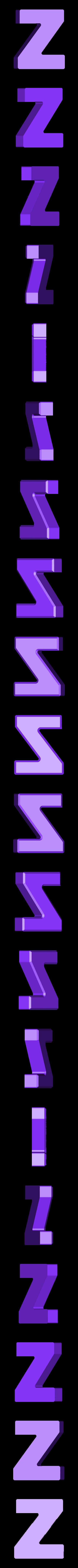 Z.stl Download free STL file Letter Bowls • 3D print object, PrintedSolid