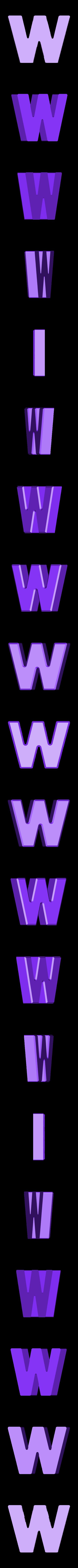 W.stl Download free STL file Letter Bowls • 3D print object, PrintedSolid