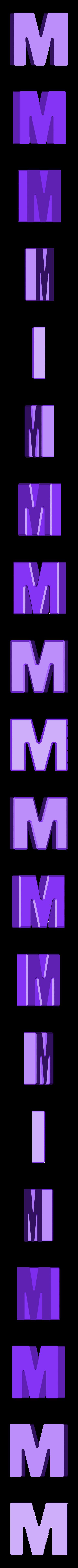 M.stl Download free STL file Letter Bowls • 3D print object, PrintedSolid