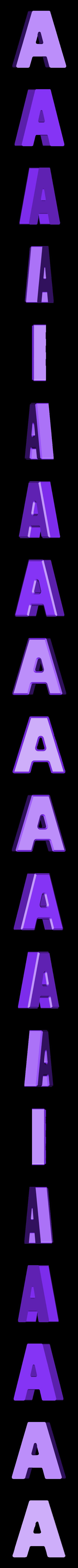 A.stl Download free STL file Letter Bowls • 3D print object, PrintedSolid