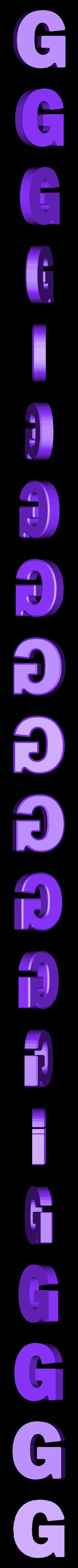 G.stl Download free STL file Letter Bowls • 3D print object, PrintedSolid