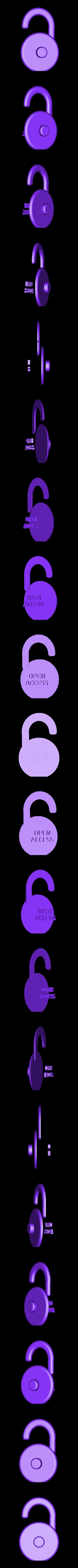 Open_Access_dual_orange.stl Télécharger fichier STL gratuit Logo en libre accès • Design à imprimer en 3D, sjpiper145