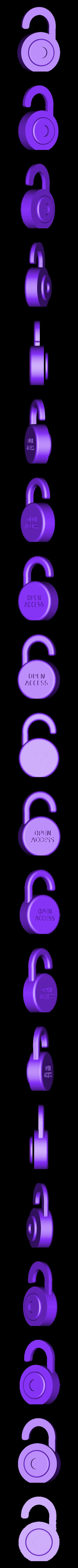 Open_Access_dual_white.stl Télécharger fichier STL gratuit Logo en libre accès • Design à imprimer en 3D, sjpiper145