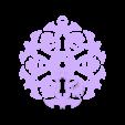 bat_flake_hole.stl Télécharger fichier STL gratuit Bat Flake • Plan imprimable en 3D, Ghashnarb