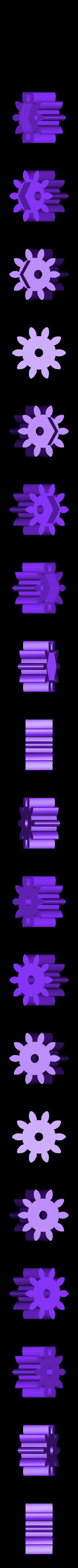 Metric_-_Spur_gear_2M_10T_20PA_12FW_---S10N75H50L4N.STL Télécharger fichier STL gratuit Réducteur uniforme et évolutif (1:256) • Design imprimable en 3D, Ghashnarb