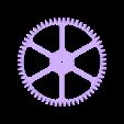 Worm_Gear_-_M1.5_with_60_teeth_x_20mm_with_M2_10_teeth_gear_Flat_Spokes.STL Télécharger fichier STL gratuit Réducteur à vis sans fin • Modèle pour imprimante 3D, Ghashnarb