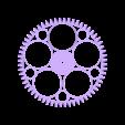 Worm_Gear_-_M1.5_with_60_teeth_x_20mm_with_M2_10_teeth_gear_Round_Spokes.STL Télécharger fichier STL gratuit Réducteur à vis sans fin • Modèle pour imprimante 3D, Ghashnarb