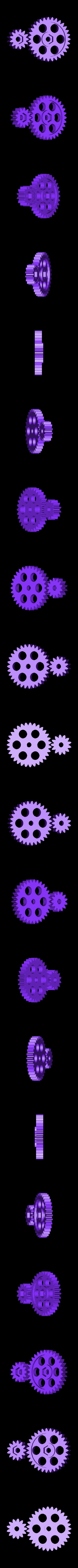 HPTO_gear_reduction.stl Download free STL file HuPo Take-Off • Design to 3D print, Azagal