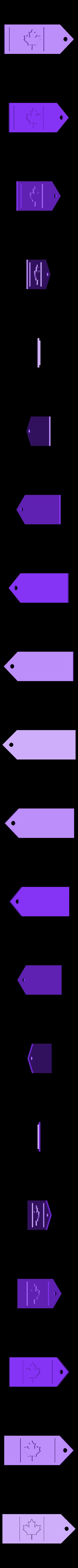 MapleLeaf.stl Download free STL file Maple Leaf Keychain • 3D printing design, Lurgrod