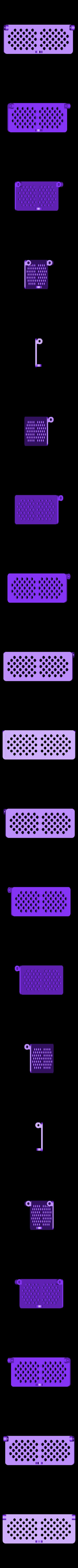 cover-circles.STL Télécharger fichier STL gratuit Boîte avec charnières cachées et verrouillage à clic • Objet à imprimer en 3D, 3d-dragar