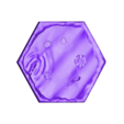 Water_Tile_with_Water_Thin_-_1_Hex_V2.stl Download free STL file Water Tiles for Gloomhaven (1 & 2 & 3 Hex) • 3D printable model, RobagoN