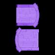 Wood_Door_-_Closed_Split.stl Download free STL file Wood Dungeon Door - Hinged, Open/Closed, & Slide In • 3D printing model, RobagoN