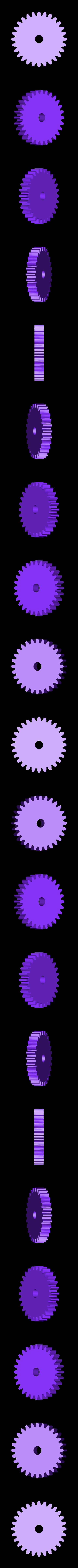 roller_gear.stl Télécharger fichier STL gratuit Polisseuse de pièces Smooth-O-Matic et gobelet à roches • Design à imprimer en 3D, Khuxtan