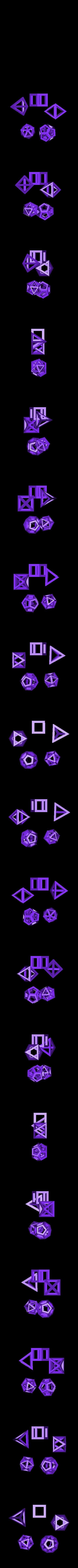 platonic.stl Download free STL file Customizable Convex Polyhedra • 3D printable template, Ristrorg