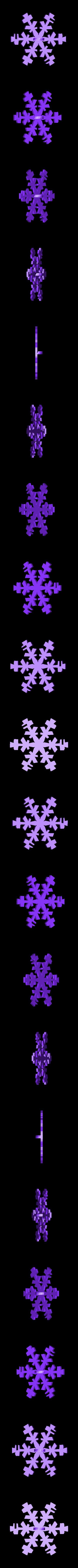 snowflake_top.stl Télécharger fichier STL gratuit Ornement de flocon de neige Icosahedron • Modèle imprimable en 3D, Ristrorg