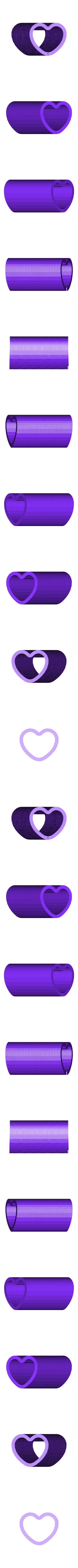 HeartSlinky.stl Download free STL file Slinkies • Template to 3D print, Ristrorg