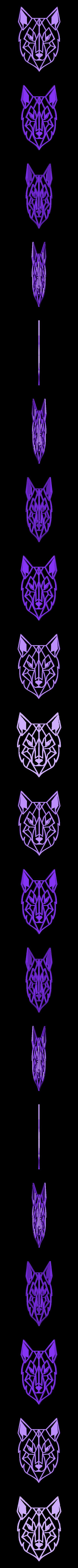 Wilk.stl Download free STL file Geometric Wolf Wall Sculture • 3D printer design, kaju666