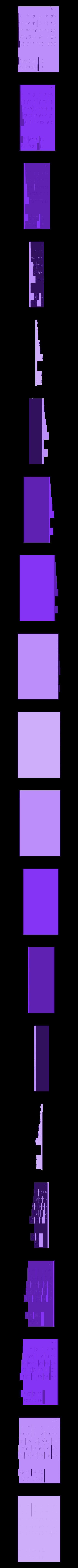 new_Braille_density_table2Cut3.stl Télécharger fichier STL gratuit Amélioration du tableau périodique en braille (densité) • Modèle imprimable en 3D, Durbarod