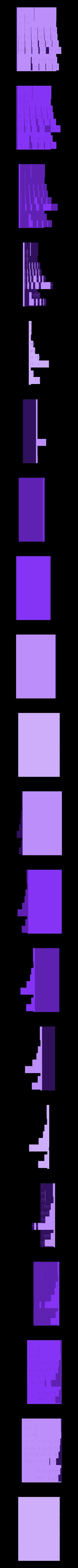 new_Braille_density_table2Cut1.stl Télécharger fichier STL gratuit Amélioration du tableau périodique en braille (densité) • Modèle imprimable en 3D, Durbarod