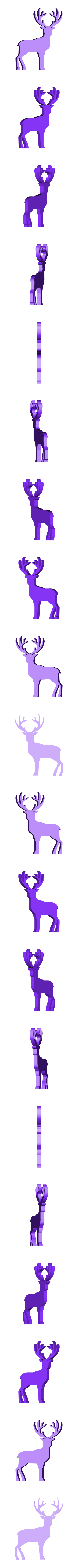 Reindeer_large_.stl Download free STL file Flat Reindeer • 3D printing object, christelle79
