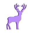 Reindeer_Medium.stl Download free STL file Flat Reindeer • 3D printing object, christelle79