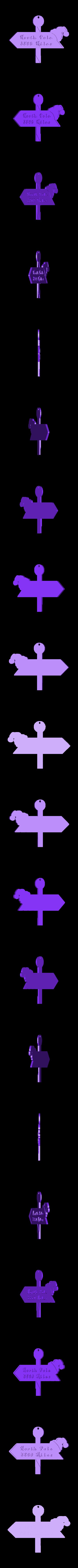 Example_from_Irvine_CA.stl Télécharger fichier STL gratuit Distance jusqu'au panneau du pôle Nord • Objet pour impression 3D, Yazhgar