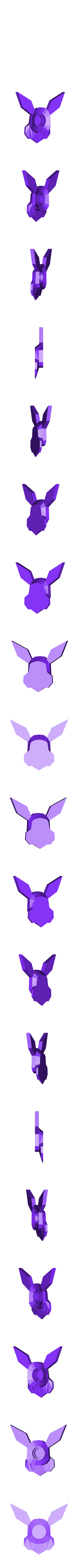 2candle_eevee.stl Download free STL file Pokemon Bithday Candles - Pikachu and Eevee • Object to 3D print, 3D-mon