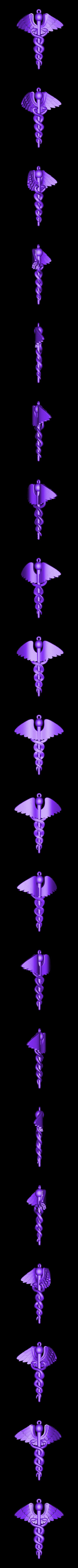 Caduceus_ Final _ Repair_ 01 Dec.stl Download OBJ file Caduceus • 3D printable template, Cadiaan
