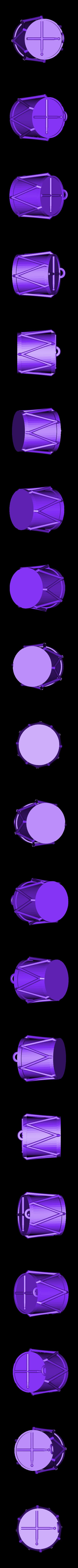 Drum_Ornament.STL Télécharger fichier STL gratuit Ornement de tambour • Plan à imprimer en 3D, Girthnath