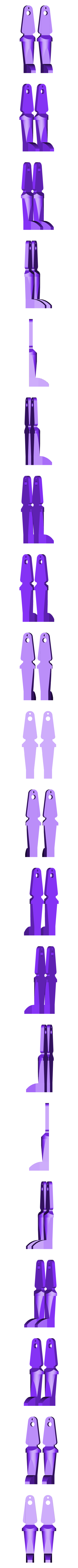 Ornament_Legs.STL Download free STL file Pull-String Nutcracker Ornament • 3D printer template, Girthnath