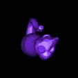 cat_with_loop.stl Télécharger fichier STL gratuit Boucles d'Ornement et d'Oreilles de Chat • Objet pour impression 3D, Girthnath