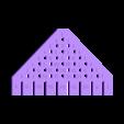 triangle_overlay.stl Download free STL file Configurable Galton Board • 3D printable object, Girthnath