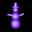 snowman.stl Télécharger fichier STL gratuit Ornement Mix and Match • Design imprimable en 3D, Girthnath