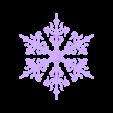 snowflake_fancy.stl Télécharger fichier STL gratuit Ornement Mix and Match • Design imprimable en 3D, Girthnath