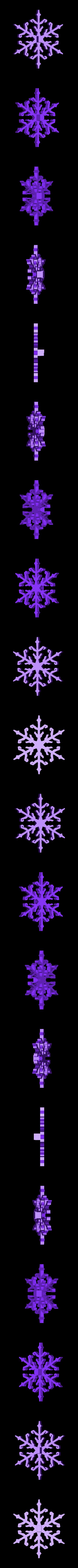snowflake_simple.stl Télécharger fichier STL gratuit Ornement Mix and Match • Design imprimable en 3D, Girthnath