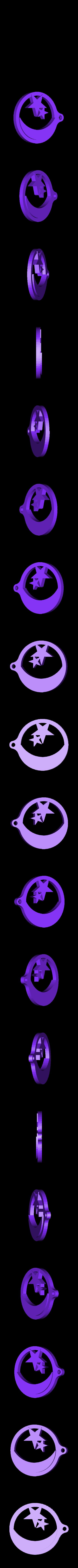 StarAndMoonPennantV2.STL Télécharger fichier STL gratuit Fanion étoilé et fanion lunaire • Objet à imprimer en 3D, Durbanarb