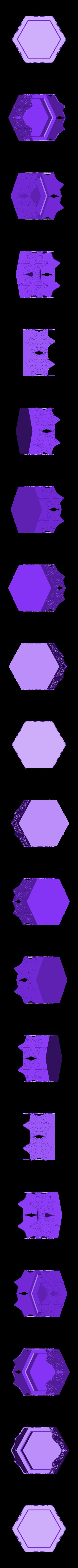 Hex_candle_holder.STL Télécharger fichier STL gratuit Bougeoir pour bougies en toile d'araignée hexagonale • Plan imprimable en 3D, Durbanarb
