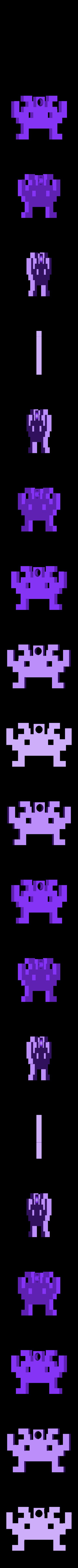 space_invader1.stl Download free STL file 8-bit space invader keychain • Design to 3D print, Durbanarb