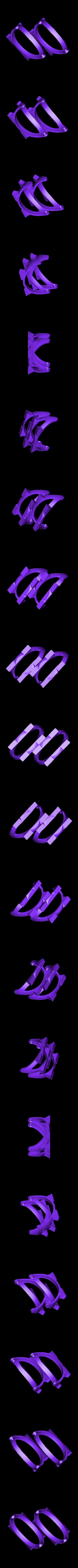 2_Bases.stl Télécharger fichier STL gratuit Plaques de montage gyroscopiques à cardan • Plan pour impression 3D, Bolnarb