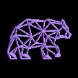 41.bearwalking.stl Download STL file Bear Wall Sculpture 2D II • 3D printing object, UnpredictableLab