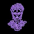 9.frida.stl Download STL file Frida Kahlo Wall Sculpture 2D II • 3D printing template, UnpredictableLab