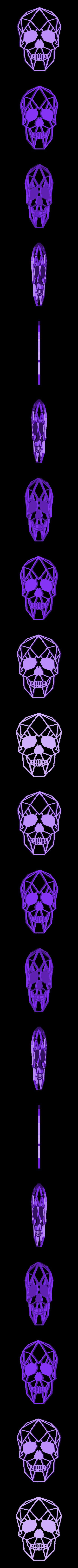 11.skull.stl Download STL file Skull Wall Sculpture 2D • Model to 3D print, UnpredictableLab