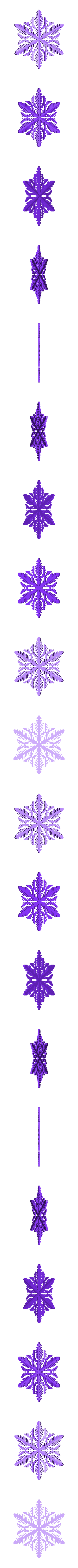reiter-fat.stl Télécharger fichier STL gratuit Simulation de la croissance des flocons de neige dans OpenSCAD • Plan pour imprimante 3D, arpruss